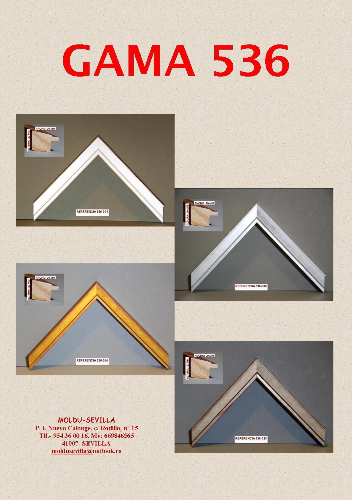 GAMA 536: Muestrario de Moldusevilla