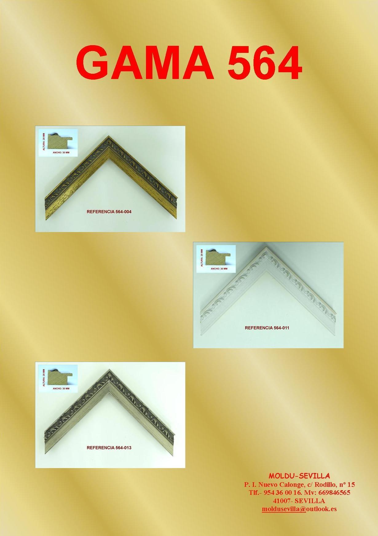 GAMA 564: Muestrario de Moldusevilla
