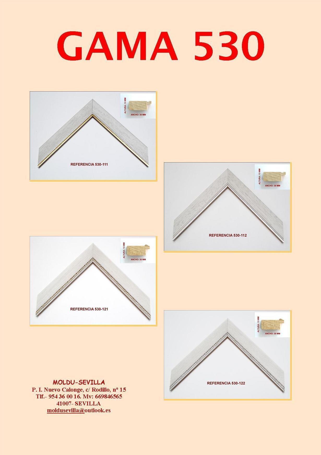 GAMA 530 ARPILLERAS: Muestrario de Moldusevilla