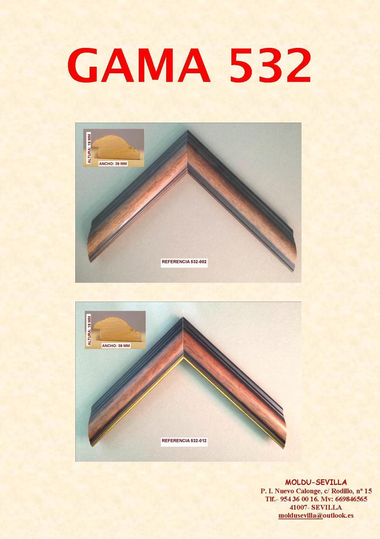 GAMA 532: Muestrario de Moldusevilla