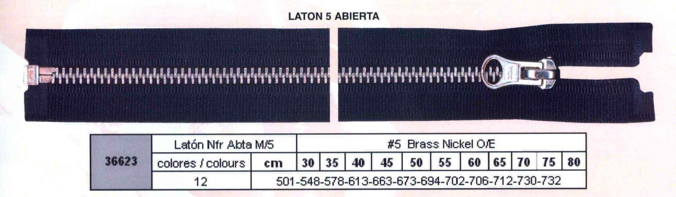 Cremallera SNS Latón NFR Separador num. 5