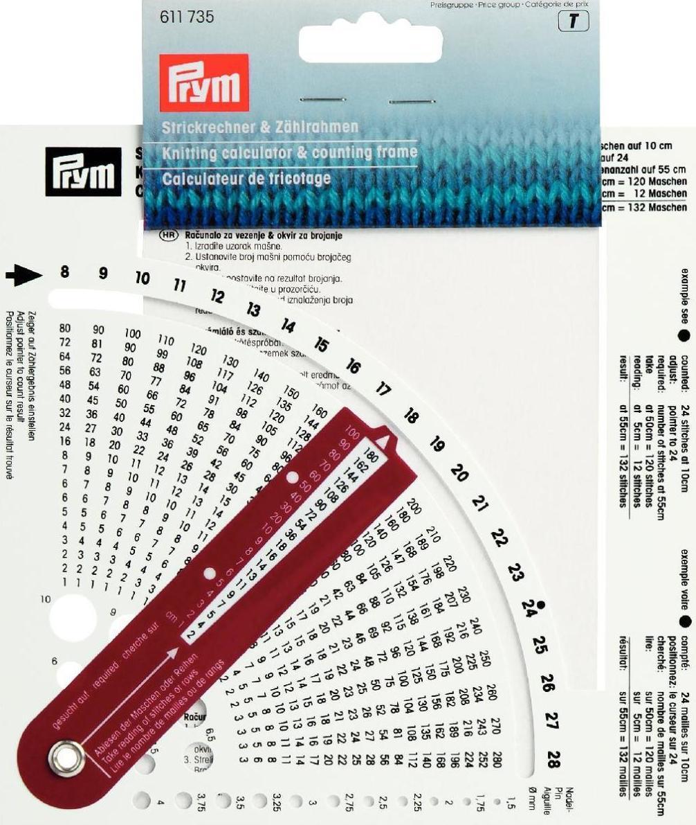 Calculador de tricotar con bastidor contador