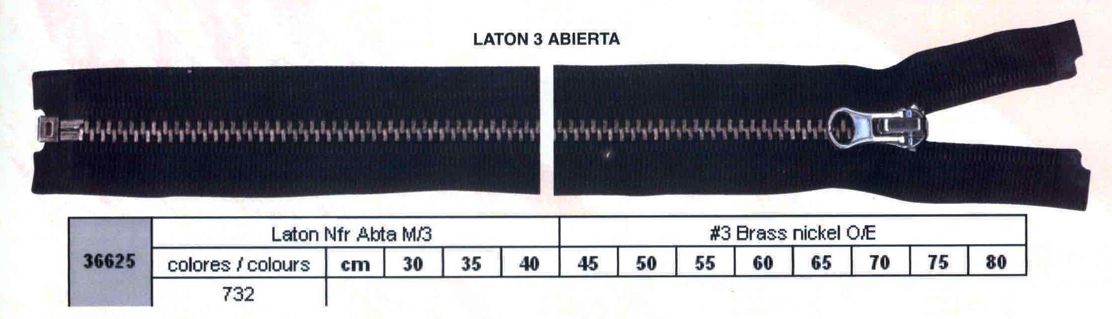 Cremallera SNS Latón NFR Separador num. 3