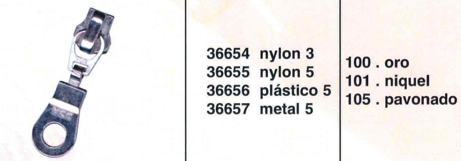 Cursor Automático Cremallera Metal Num. 5