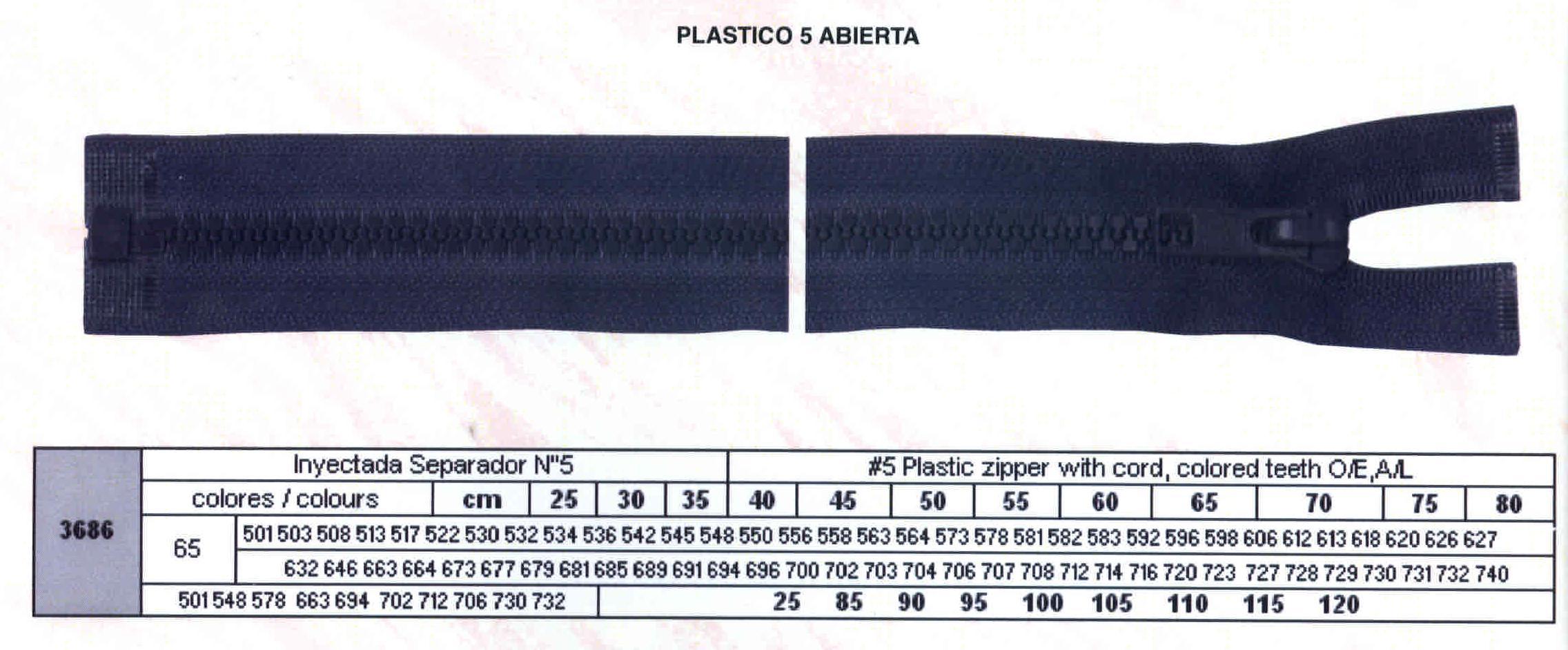 Cremallera SNS Inyectada Separador num. 5