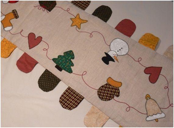 Camino de mesa navide o de patchwork acabado cat logo - Camino mesa patchwork ...