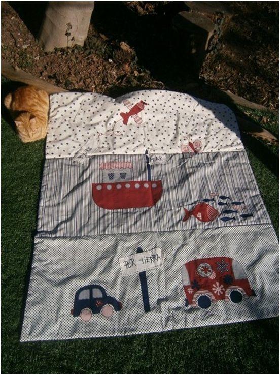 Colcha de cama ni o tierra mar y aire de patchwork - Patrones colcha patchwork ...