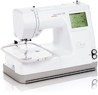 Máquina de coser Bernette Bordadora Deco 340 con conexión USB + cortahilos automático