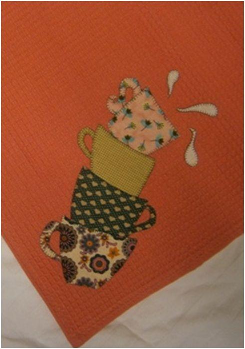 Trapo de cocina modelo Tazas de patchwork - Patrones: Catálogo de ...