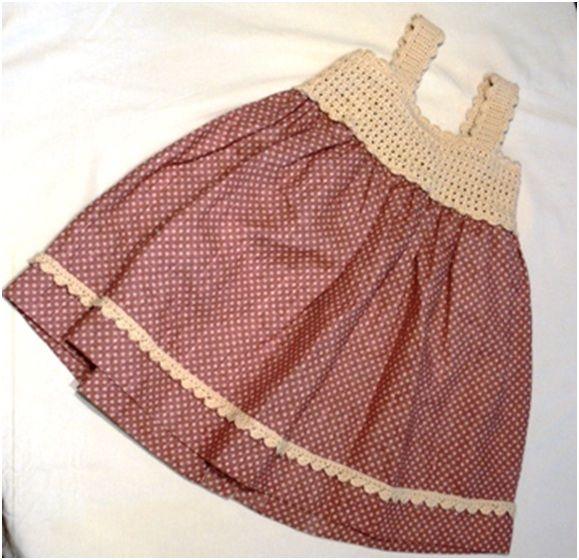 Vestido de niña a ganchillo de patchwork - Patrones: Catálogo de ...