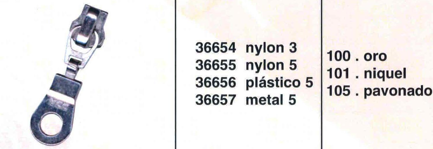 Cursor Automático Cremallera Vislon Num. 5