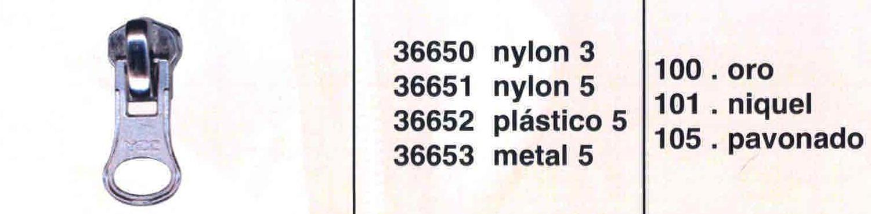 Cursor Automático Cremallera Nylon Num. 3