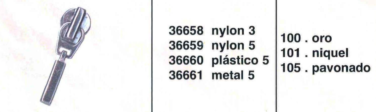 Cursor Automático Cremallera Nylon Num. 5