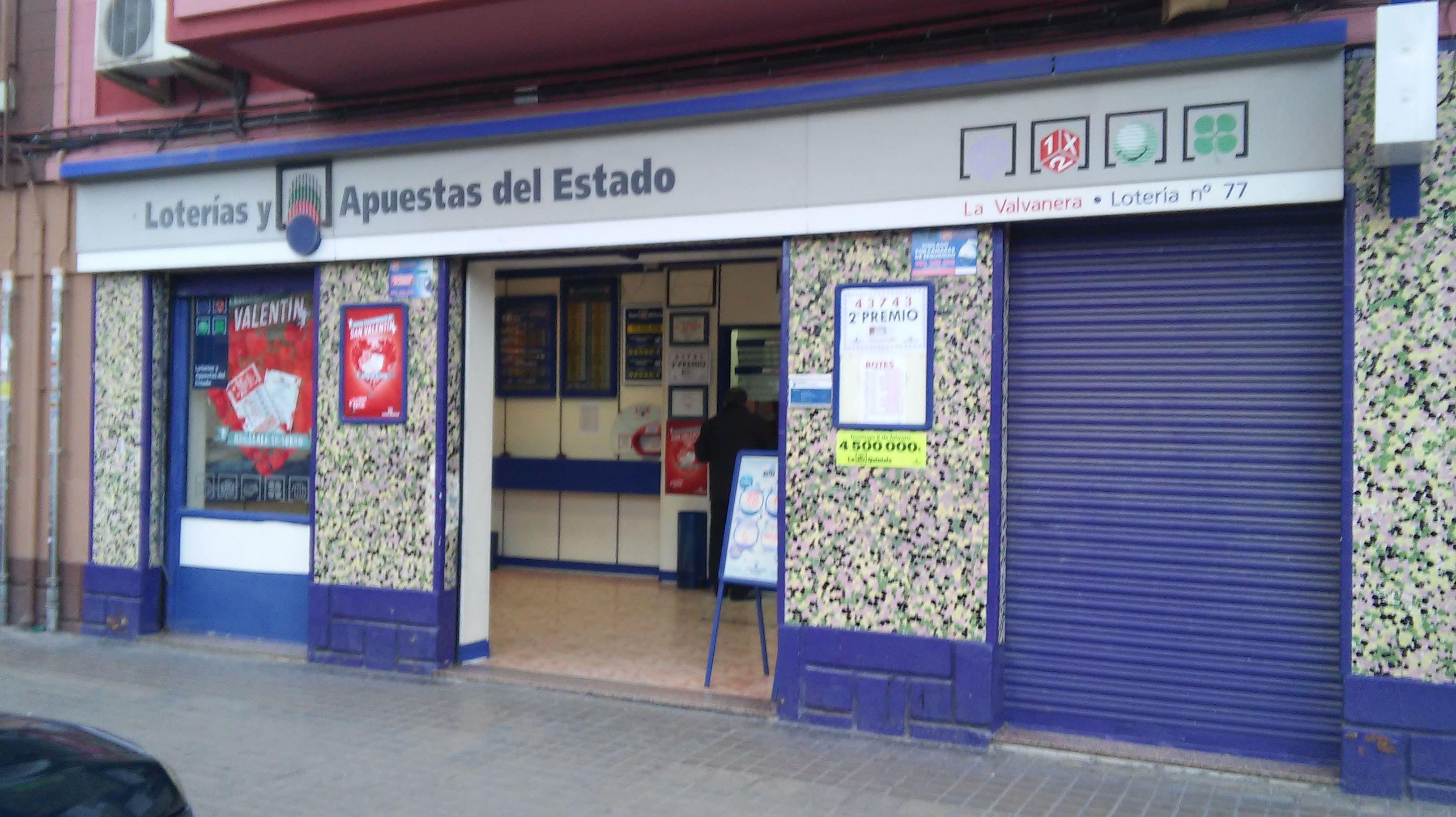 Administración de lotería con suerte en Valencia