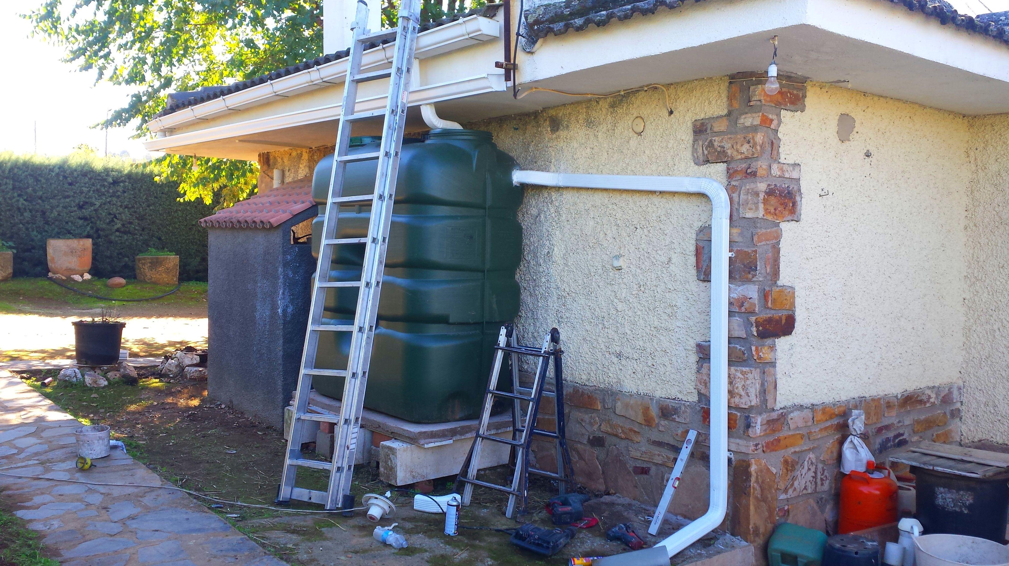 recuperación de agua para riego con depósitos
