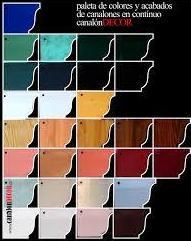 amplia carta de colores