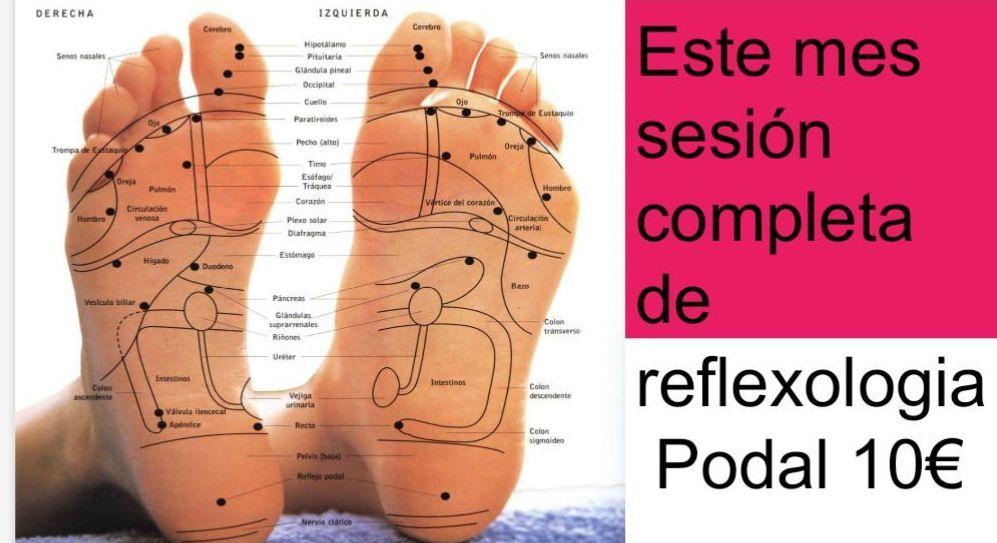 Promoción Reflexologia podal junio 2018 en Arganzuela Madrid