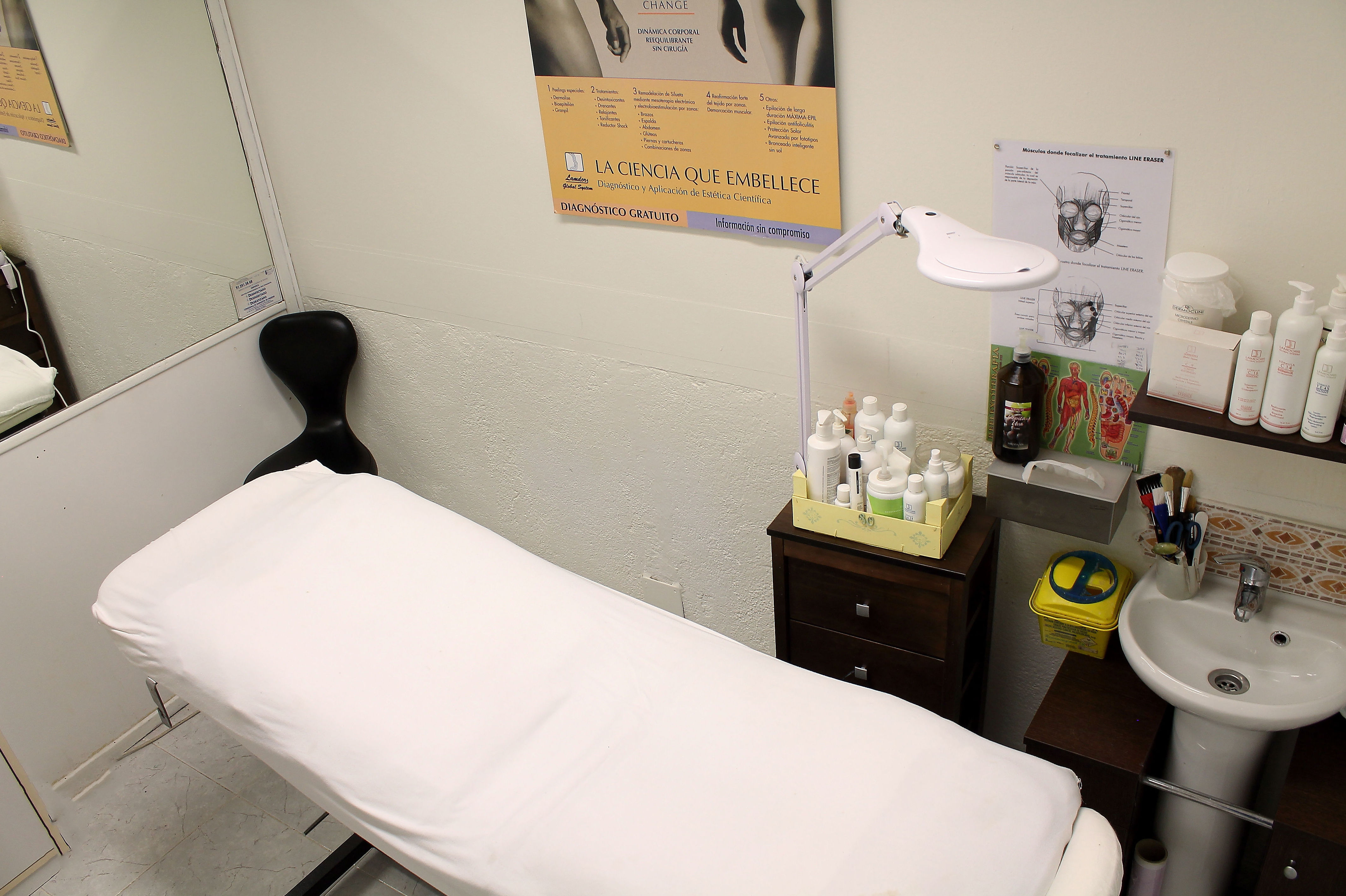 Camilla para tratamientos