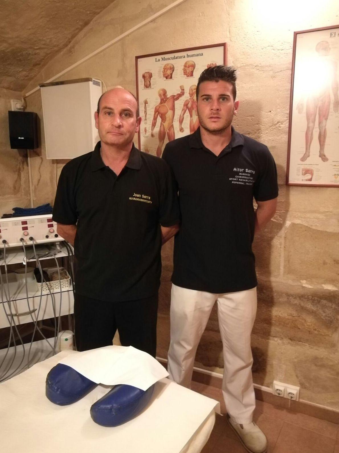 Joan Serra y Aitor Serra . Fisioterapeutas.