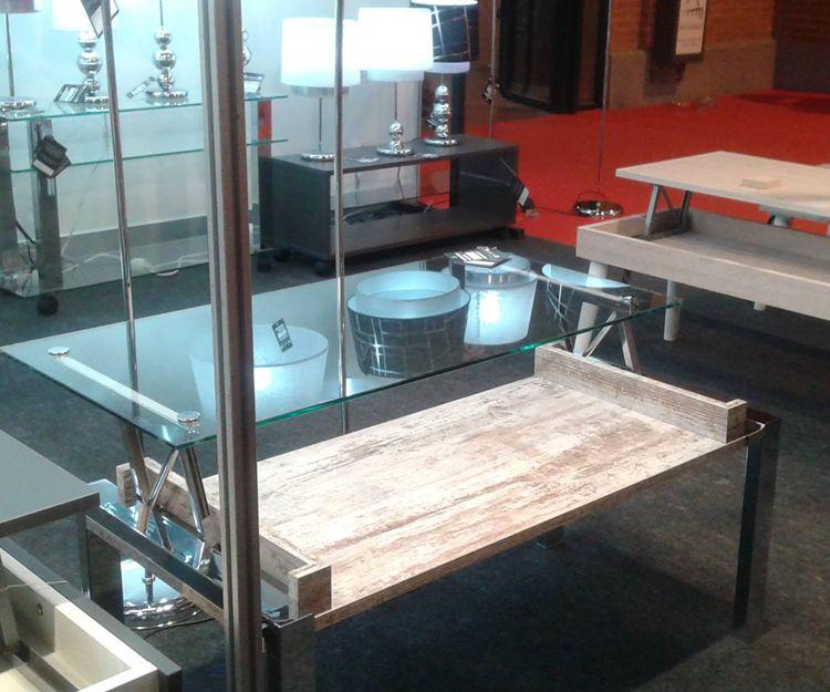 Mesas de cristal decorativas