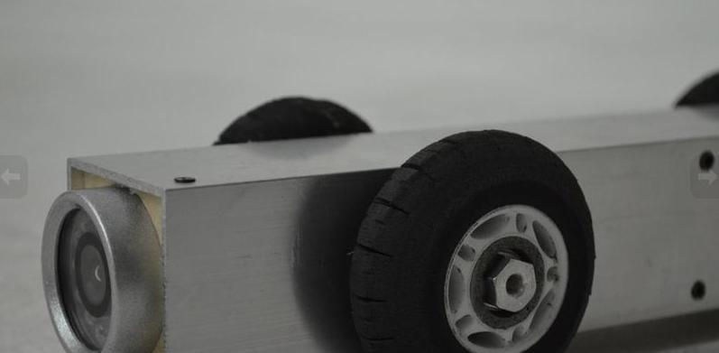 Detalle de robot para limpieza de conductos de aire