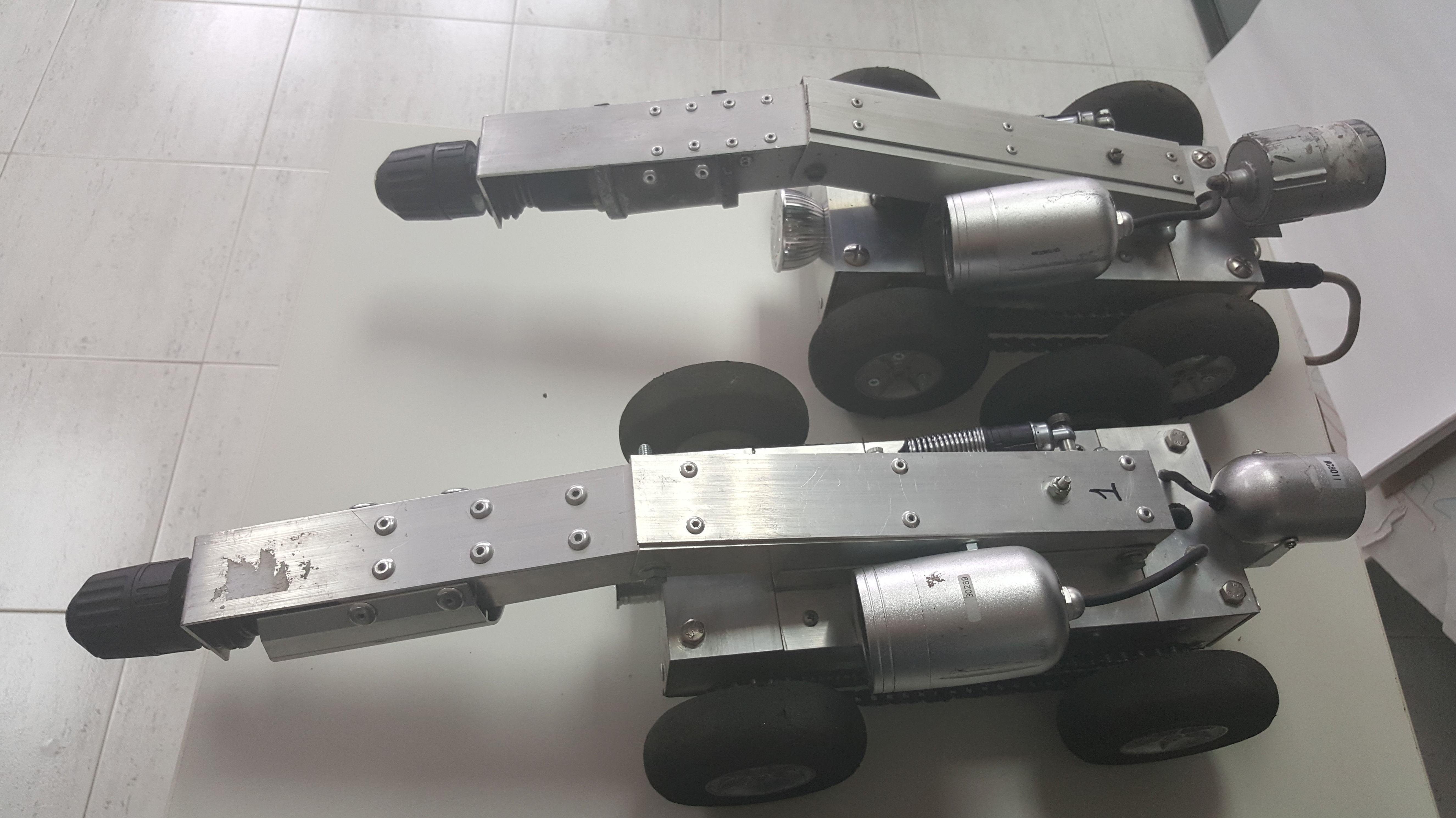 Diferentes tipos de robots para limpieza interior de conductos