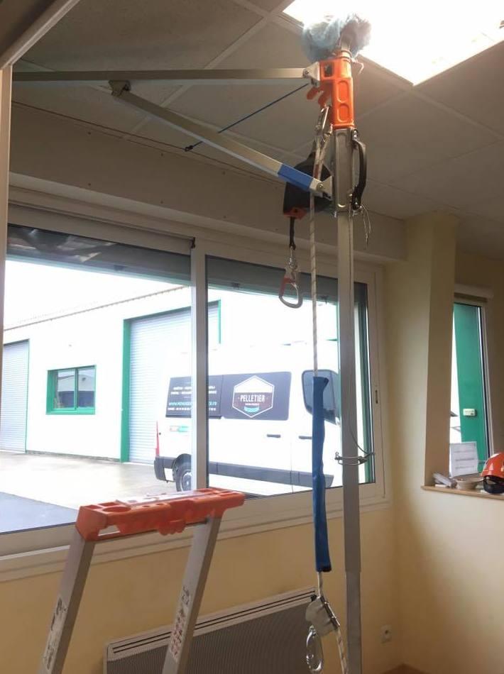 Puntal de obra para evitar caídas de altura