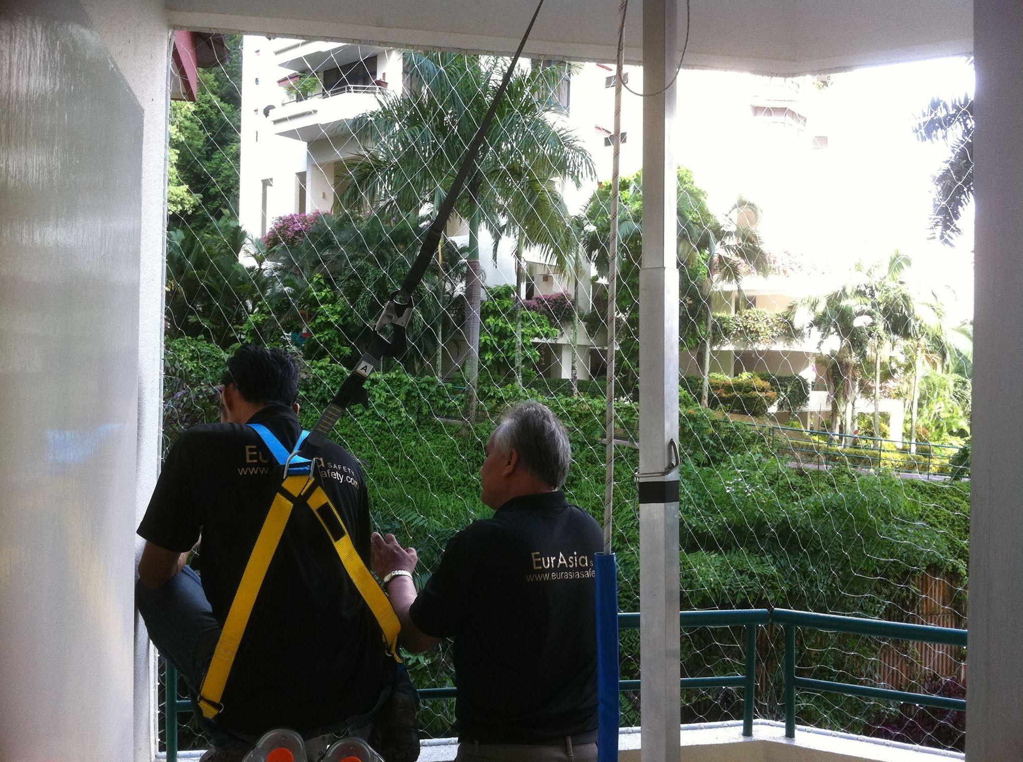 Instalación de redes invisibles con el SYAM, en Penang (Malasia)