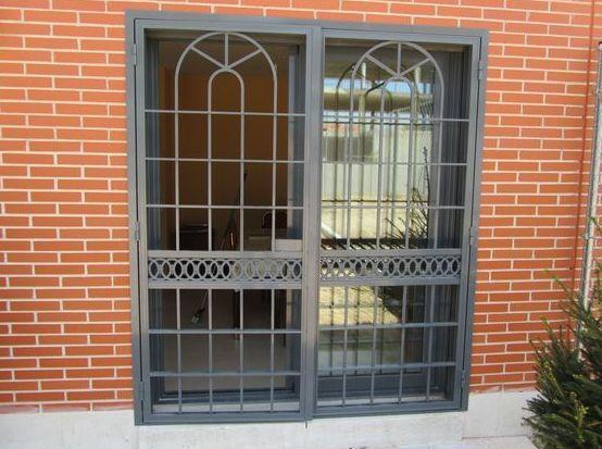 Reja Puerta Abatible Aluminio