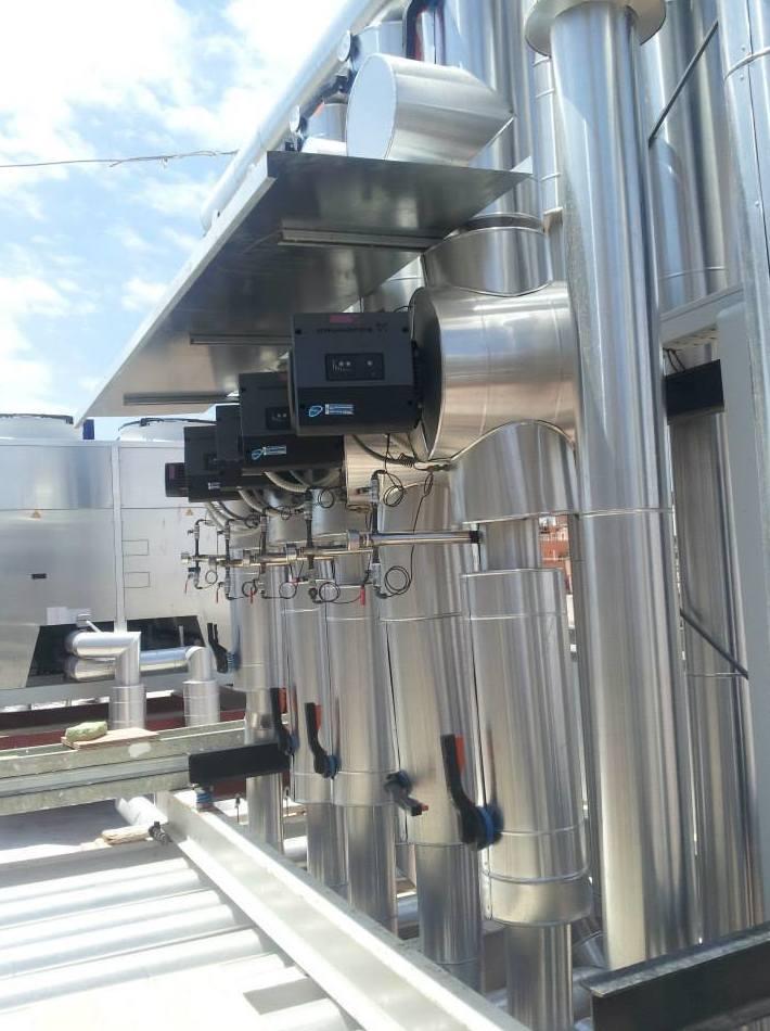 Instalación de aire acondicionado en un hotel