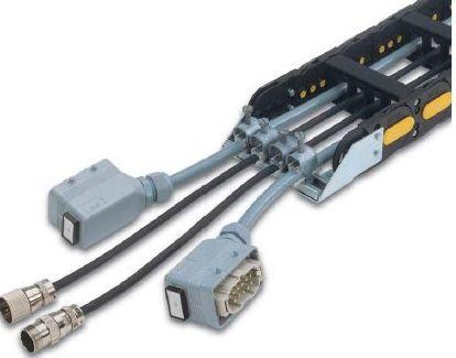 Cadena de nylon con cables y conectores