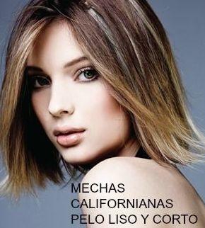 Mechas californianas con pelo liso y corto