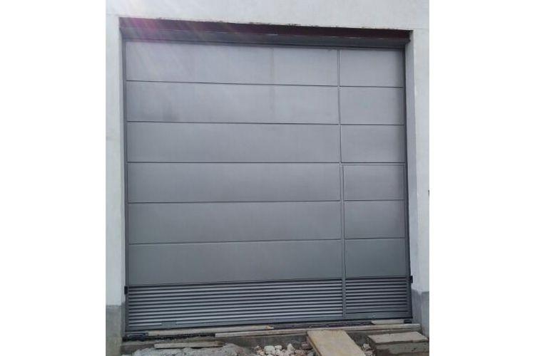 Puertas de garaje de aluminio soldado