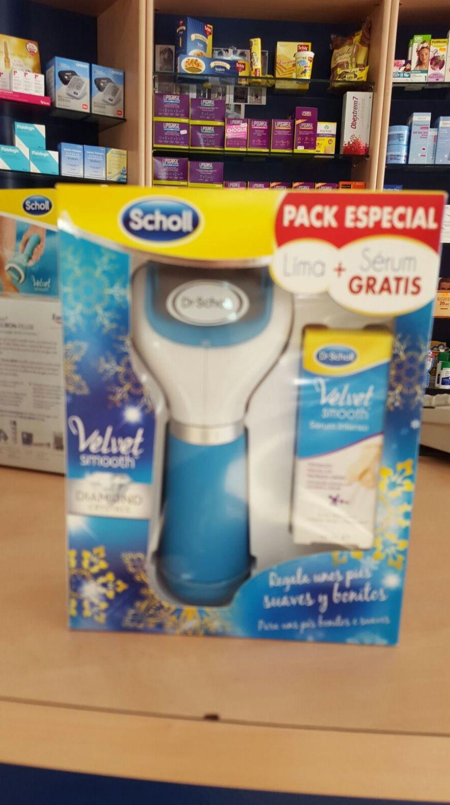 Dr. Scholl Pack Velvet Smooth Lima Electrónica + Sérum intenso : Productos y Promociones de Farmacia Lucía