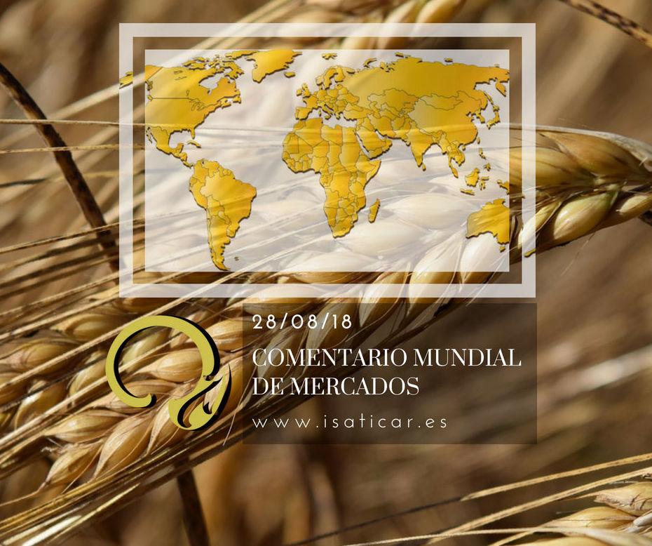 Cotizaciones de cereal en el mercado internacional