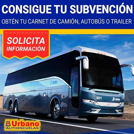 Subvenciones carnet de camión, autobús o trailer