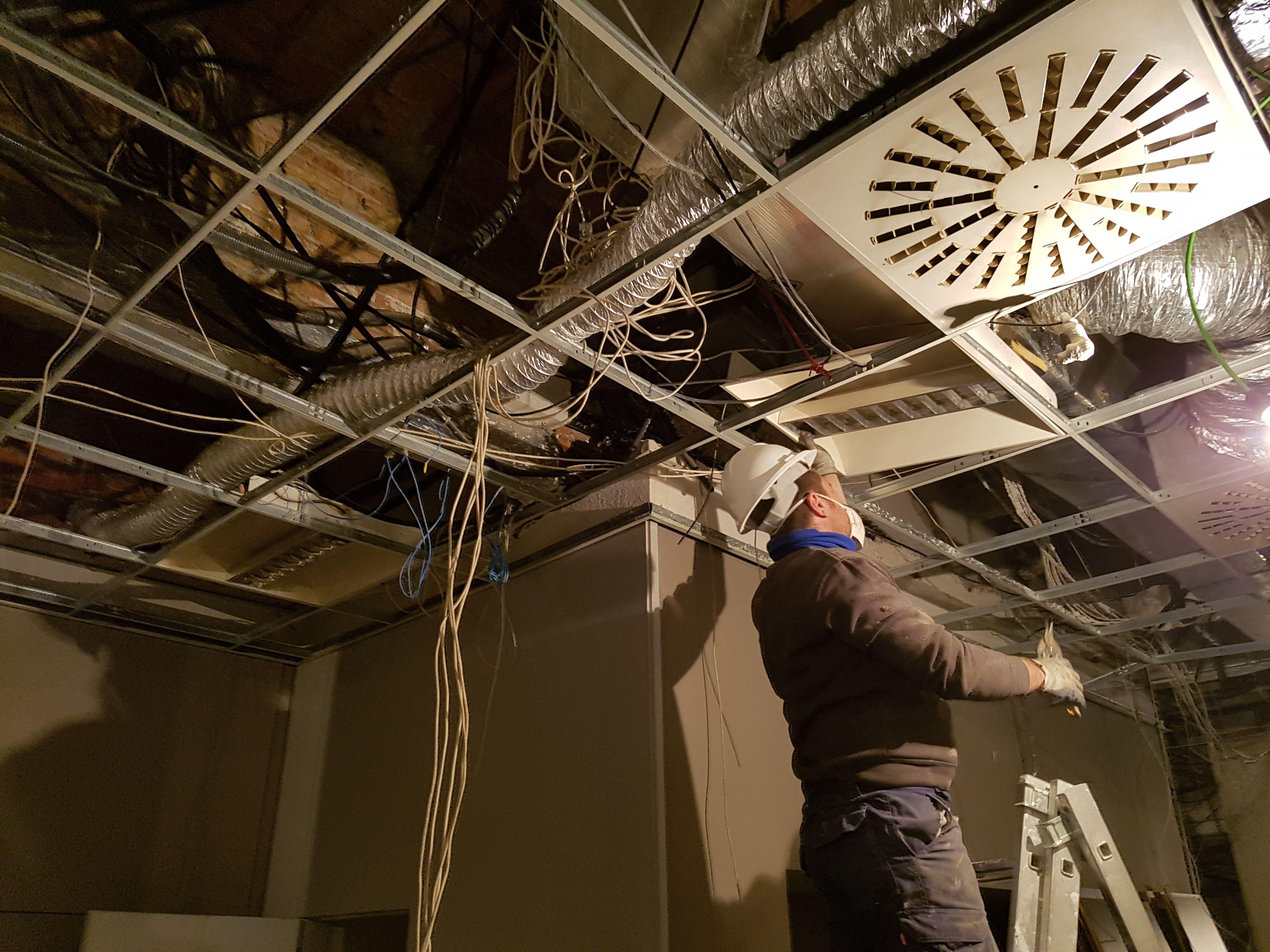 Trabajos de electricidad