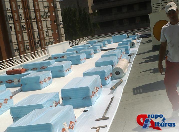 Impermeabilización de un tejado