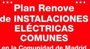 Ahorro: Plan Renove de Instalaciones Eléctricas Comunes en Comunidades de Propietarios