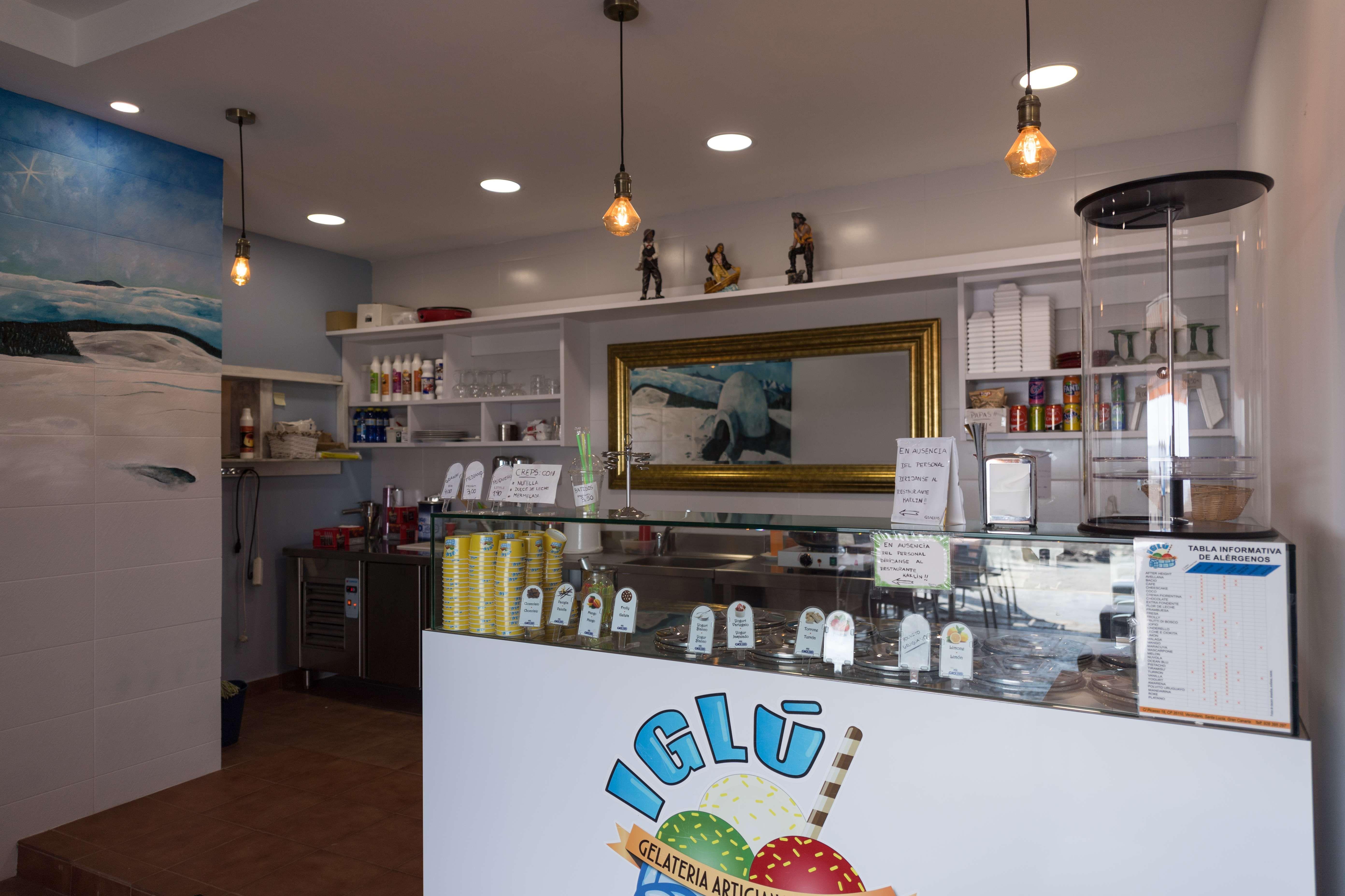Interior de nuestra heladería artesanal en Telde