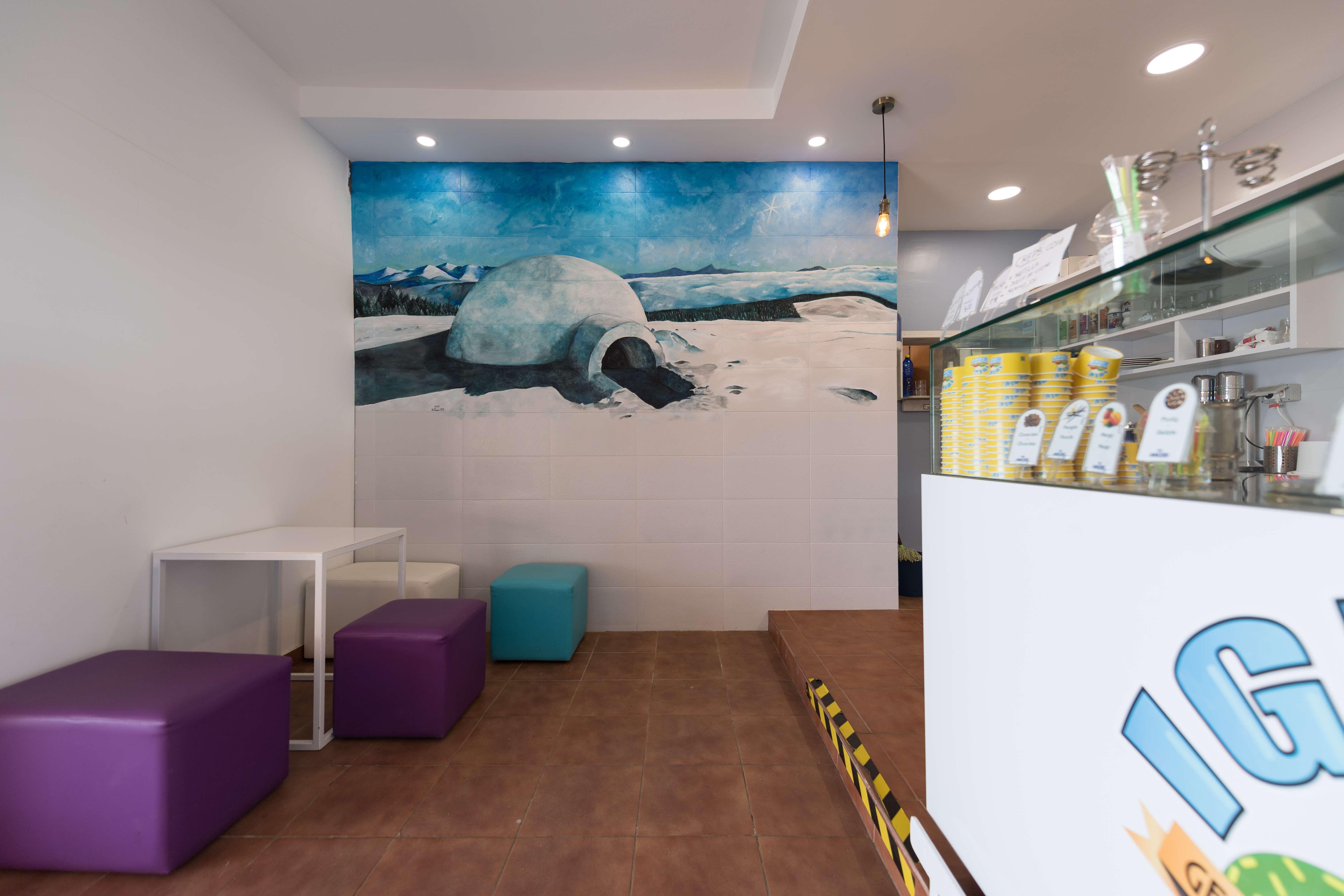 Interior de nuestra heladería artesanal e italiana en Telde