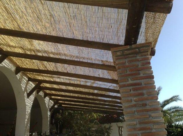 Cubierta de bambú chino