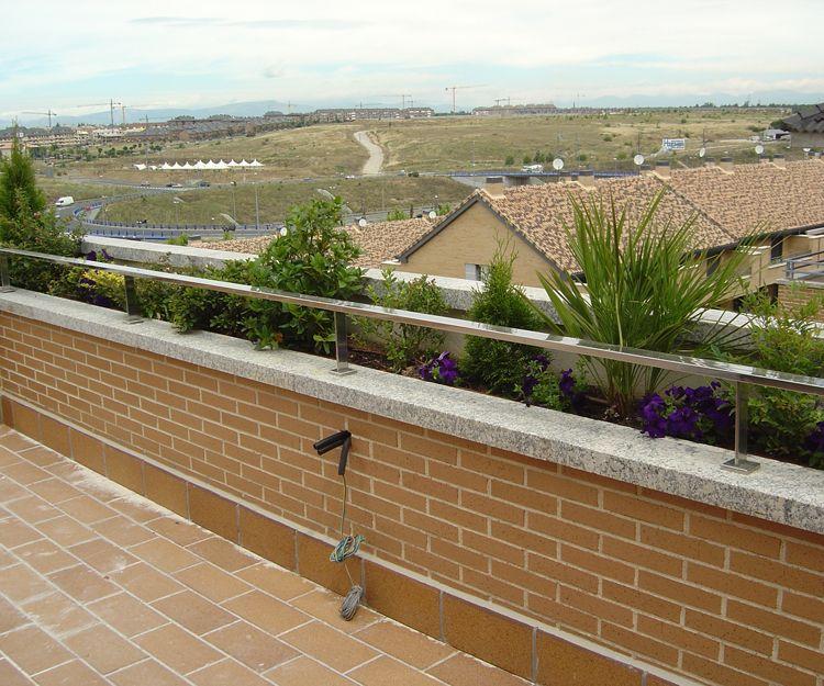 Barandilla para terraza de vivienda
