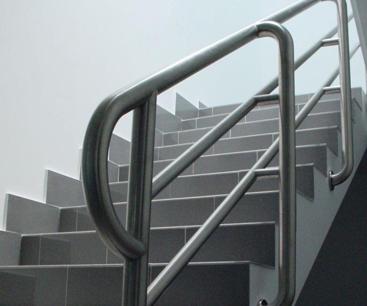Barandilla para edificio de acero inoxidable