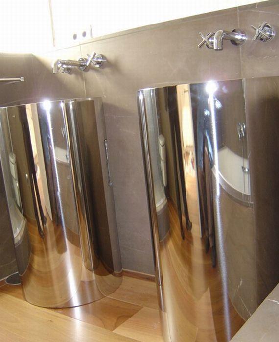 Pies cilíndricos para soporte de lavabos