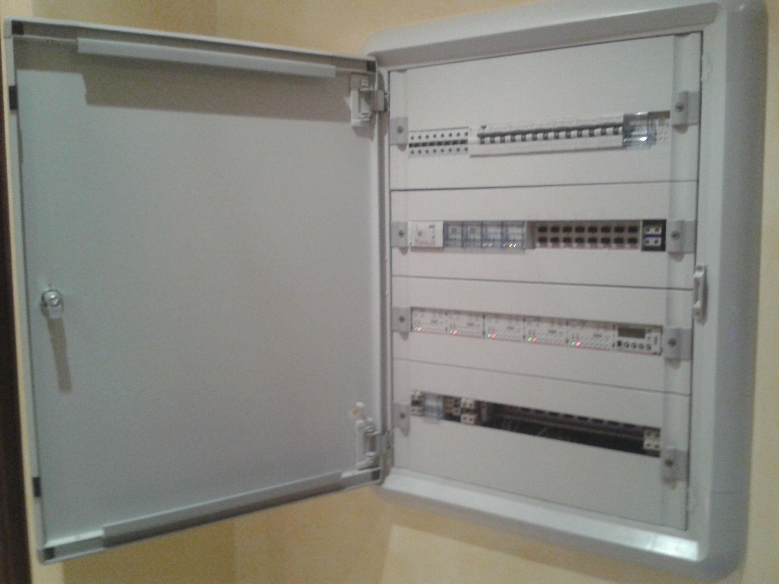 Cuadro eléctrico de vivienda domotica BTICINO