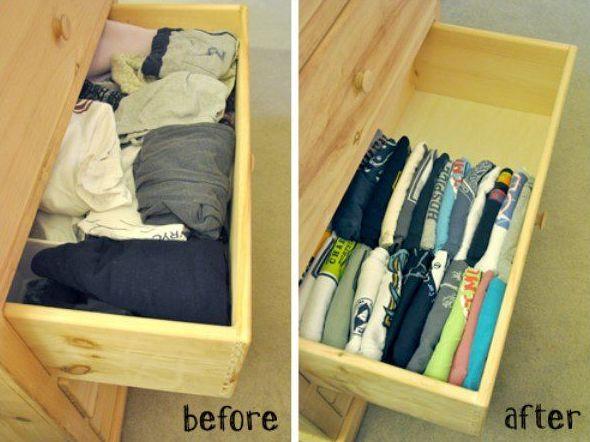 18 ideas para organizar tus armarios y cajones
