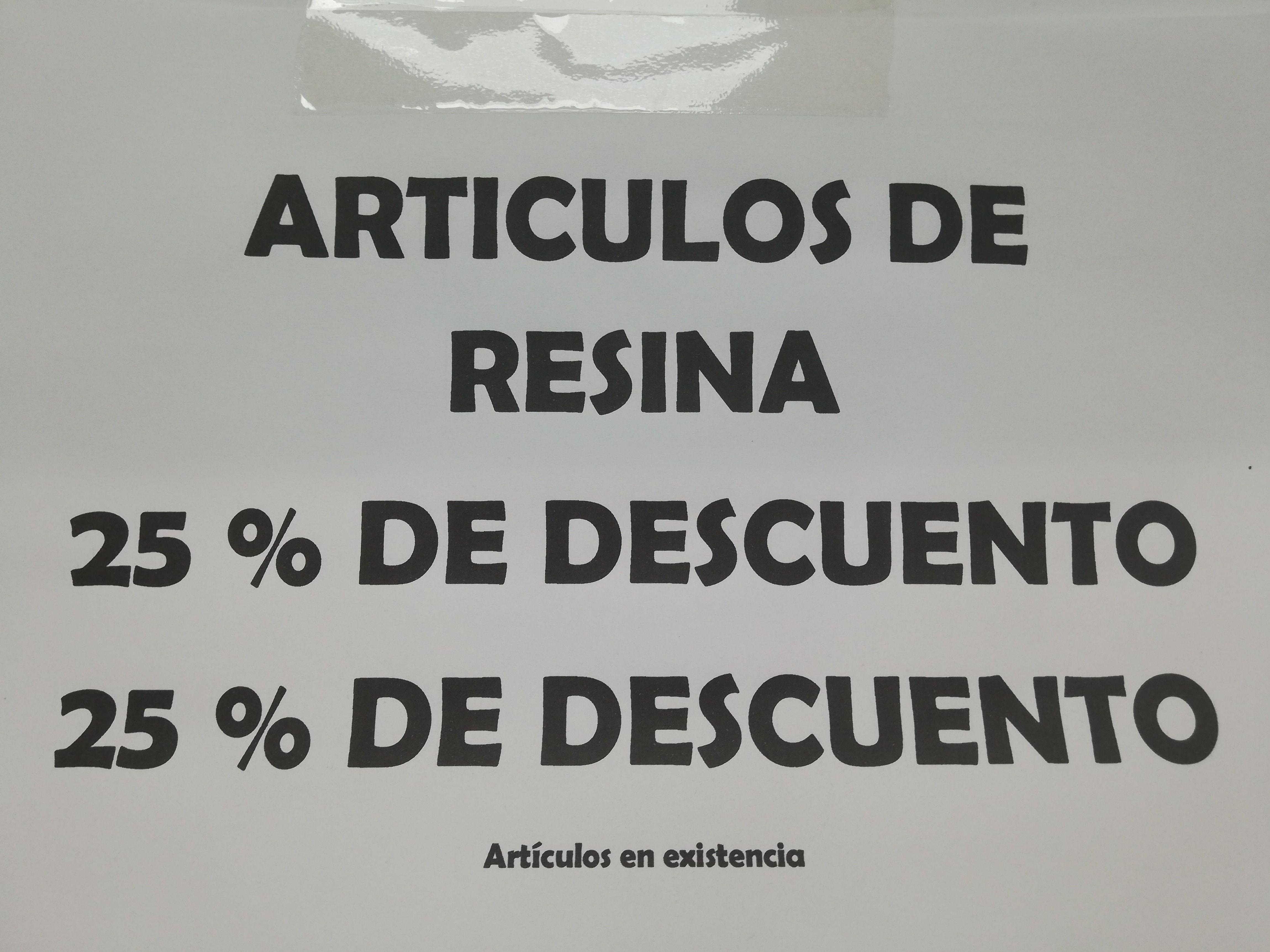 Articulos de resina: Catálogo de Mercería y Manualidades Ángel y Feli
