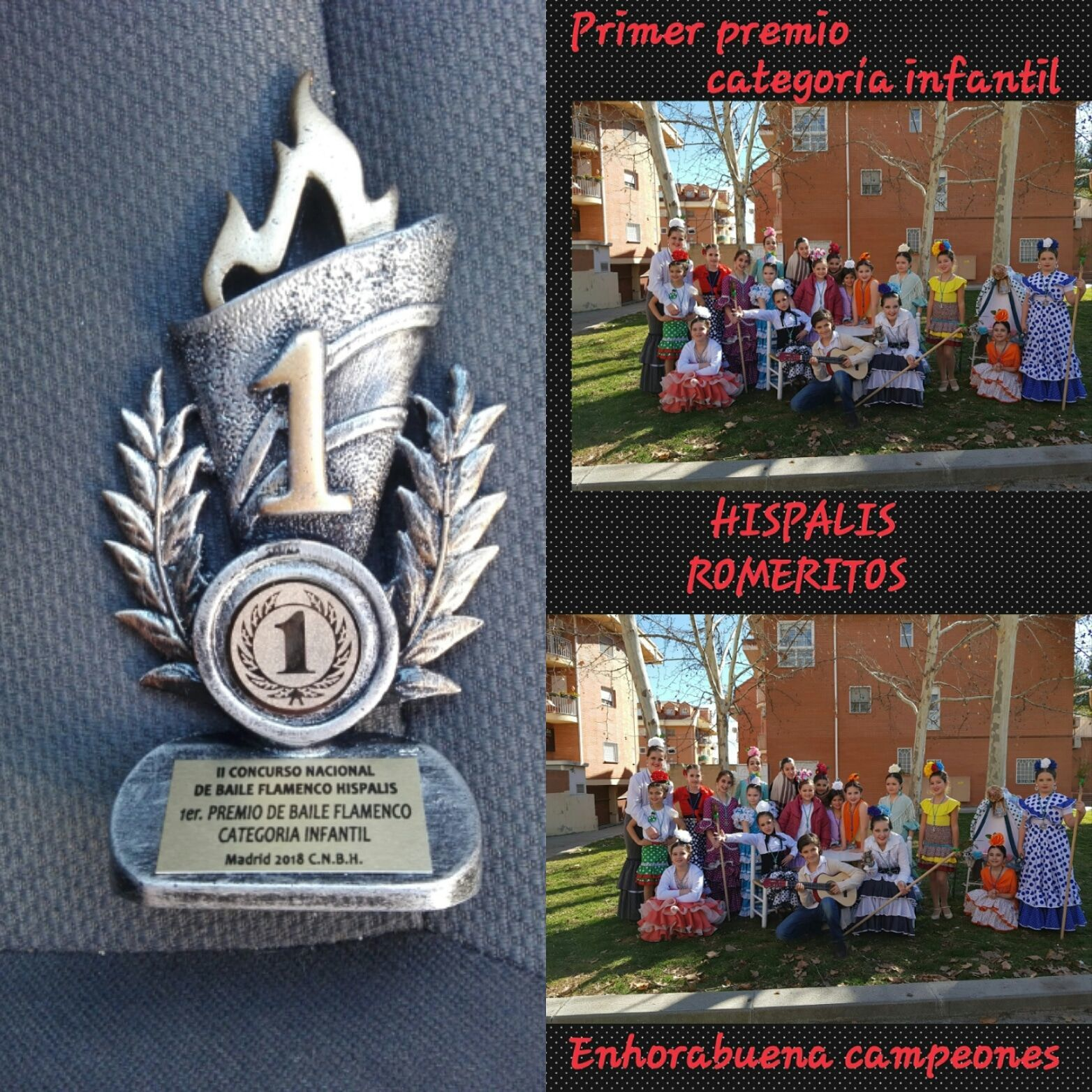 Primer premio INFANTIL Concurso Nacional de Baile Hispalis 2018