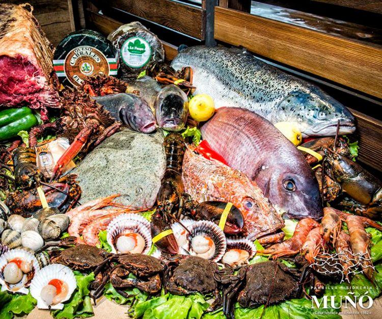 Pescados y mariscos selectos en Gijón